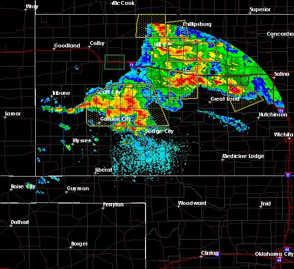 Radar Image for Severe Thunderstorms near Utica, KS at 6/21/2020 4:35 PM CDT