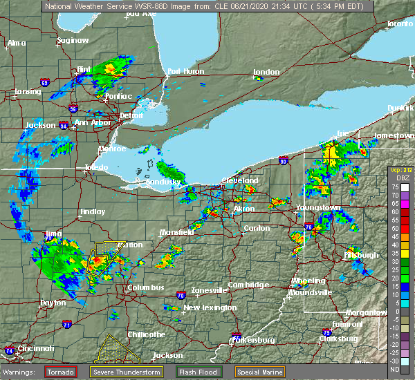 Radar Image for Severe Thunderstorms near South Russell, OH at 6/21/2020 5:39 PM EDT