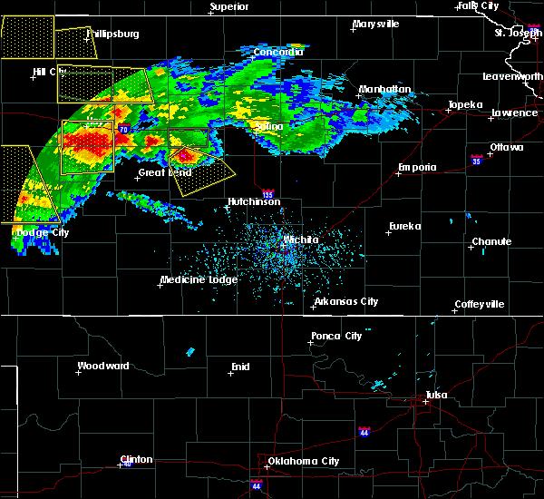 Radar Image for Severe Thunderstorms near Lorraine, KS at 6/21/2020 4:40 PM CDT
