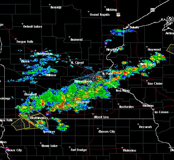 Radar Image for Severe Thunderstorms near St. James, MN at 6/21/2020 4:41 PM CDT