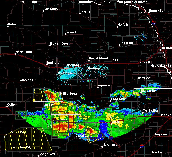 Radar Image for Severe Thunderstorms near Damar, KS at 6/21/2020 4:43 PM CDT