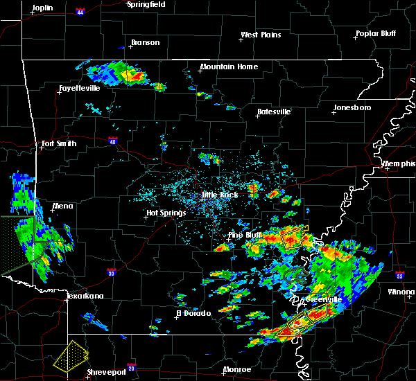 Radar Image for Severe Thunderstorms near Elaine, AR at 6/21/2020 4:46 PM CDT