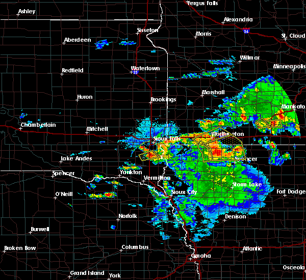 Radar Image for Severe Thunderstorms near Kinbrae, MN at 6/21/2020 4:48 PM CDT