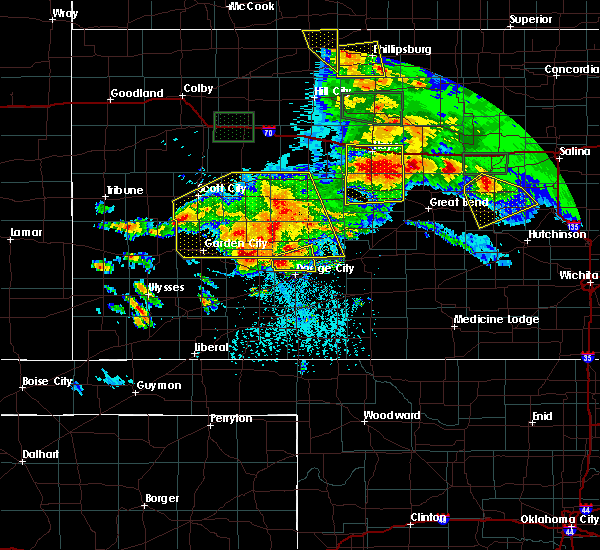 Radar Image for Severe Thunderstorms near Bison, KS at 6/21/2020 4:50 PM CDT