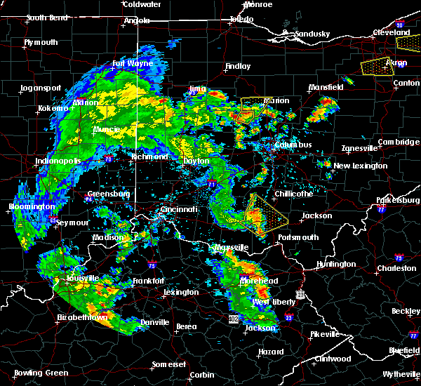 Radar Image for Severe Thunderstorms near Bainbridge, OH at 6/21/2020 5:55 PM EDT