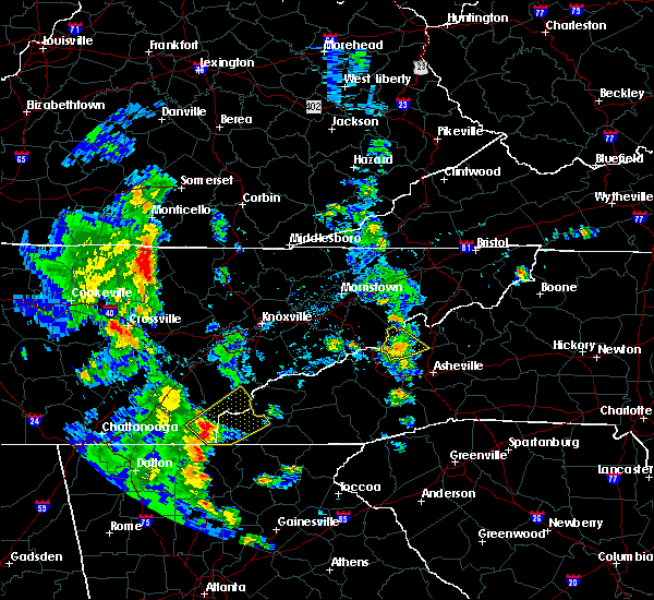 Radar Image for Severe Thunderstorms near Marble, NC at 6/21/2020 5:54 PM EDT