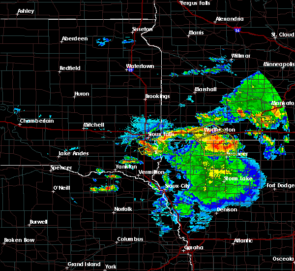 Radar Image for Severe Thunderstorms near Milford, IA at 6/21/2020 4:56 PM CDT