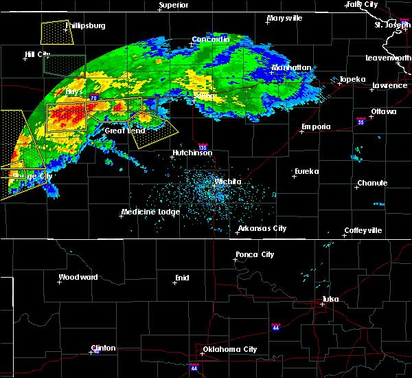 Radar Image for Severe Thunderstorms near Lorraine, KS at 6/21/2020 5:00 PM CDT