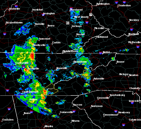 Radar Image for Severe Thunderstorms near Caryville, TN at 6/21/2020 6:01 PM EDT