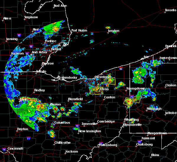 Radar Image for Severe Thunderstorms near South Canal, OH at 6/21/2020 6:05 PM EDT
