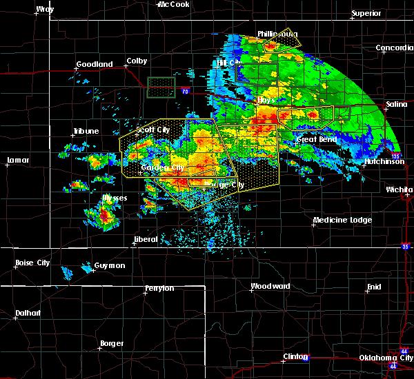Radar Image for Severe Thunderstorms near Satanta, KS at 6/21/2020 5:08 PM CDT