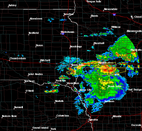 Radar Image for Severe Thunderstorms near Milford, IA at 6/21/2020 5:11 PM CDT