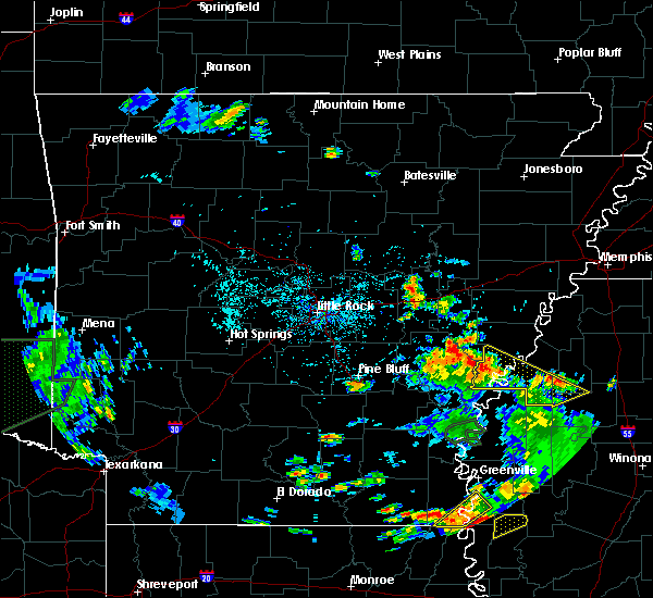Radar Image for Severe Thunderstorms near Elaine, AR at 6/21/2020 5:14 PM CDT