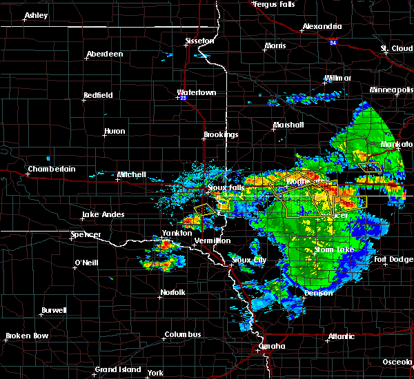 Radar Image for Severe Thunderstorms near Jackson, MN at 6/21/2020 5:18 PM CDT