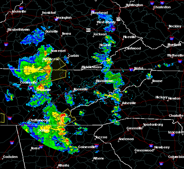 Radar Image for Severe Thunderstorms near Tellico Plains, TN at 6/21/2020 6:19 PM EDT