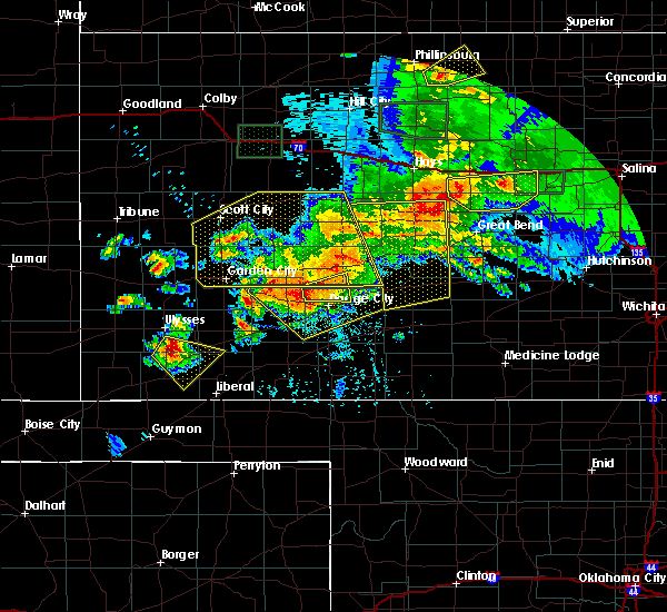 Radar Image for Severe Thunderstorms near Spearville, KS at 6/21/2020 5:25 PM CDT