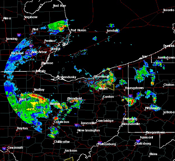 Radar Image for Severe Thunderstorms near Mansfield, OH at 6/21/2020 6:30 PM EDT