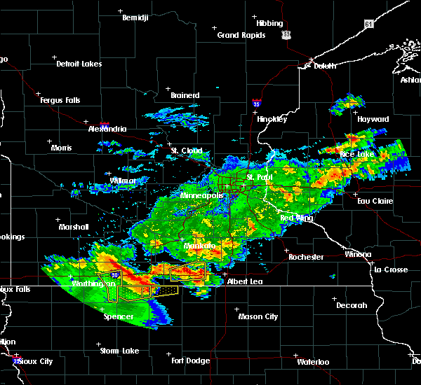 Radar Image for Severe Thunderstorms near Swea City, IA at 6/21/2020 5:45 PM CDT