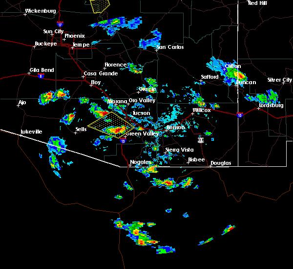 Radar Image for Severe Thunderstorms near Green Valley, AZ at 6/29/2015 4:19 PM MST