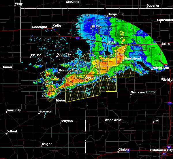 Radar Image for Severe Thunderstorms near Spearville, KS at 6/21/2020 5:49 PM CDT