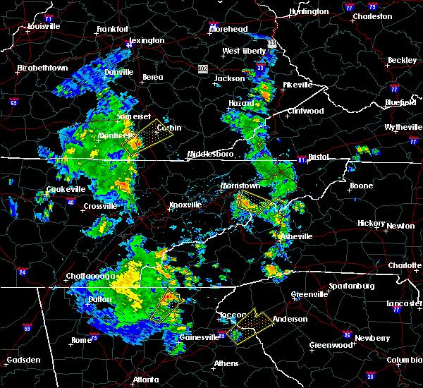 Radar Image for Severe Thunderstorms near Greeneville, TN at 6/21/2020 6:50 PM EDT
