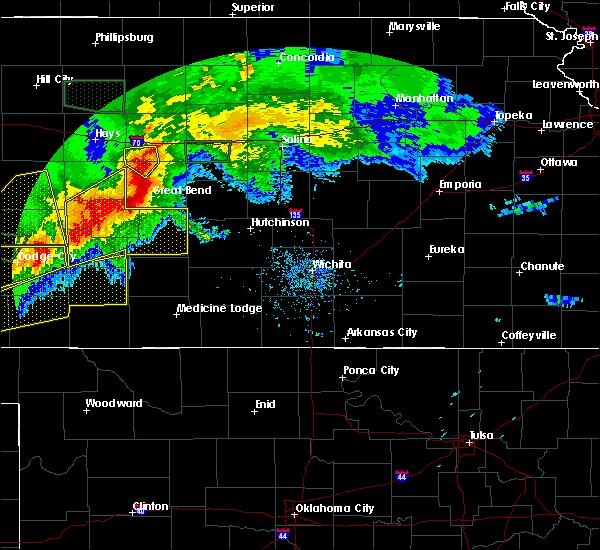 Radar Image for Severe Thunderstorms near Odin, KS at 6/21/2020 5:52 PM CDT