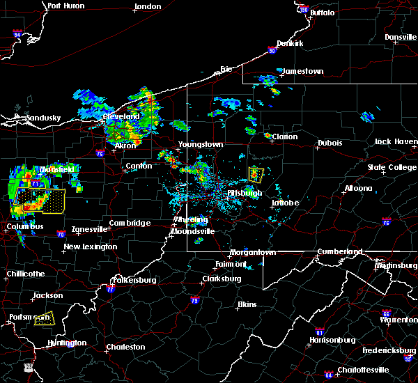 Radar Image for Severe Thunderstorms near Kittanning, PA at 6/21/2020 7:02 PM EDT