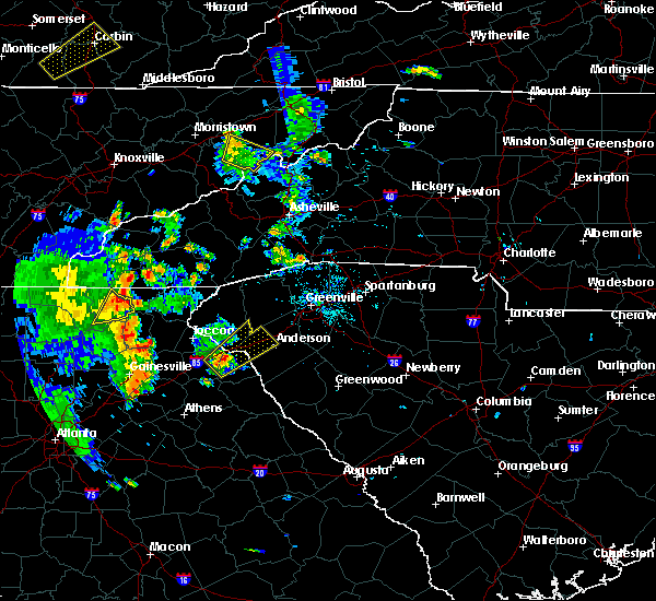 Radar Image for Severe Thunderstorms near Gumlog, GA at 6/21/2020 7:02 PM EDT