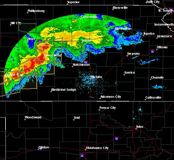 Radar Image for Severe Thunderstorms near Odin, KS at 6/21/2020 6:05 PM CDT