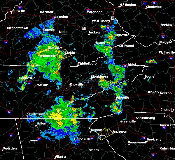 Radar Image for Severe Thunderstorms near Greeneville, TN at 6/21/2020 7:09 PM EDT