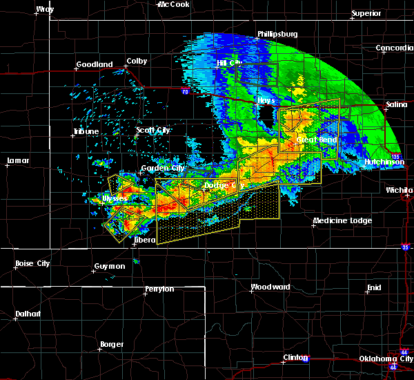 Radar Image for Severe Thunderstorms near Coldwater, KS at 6/21/2020 6:11 PM CDT