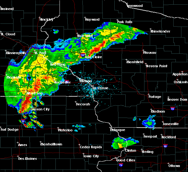 Radar Image for Severe Thunderstorms near Brownsdale, MN at 6/21/2020 6:50 PM CDT