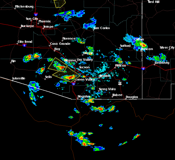 Radar Image for Severe Thunderstorms near Avra Valley, AZ at 6/29/2015 4:25 PM MST