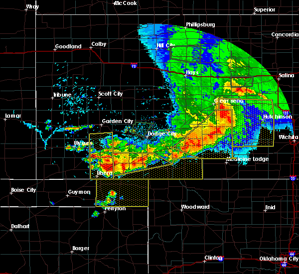 Radar Image for Severe Thunderstorms near Protection, KS at 6/21/2020 6:56 PM CDT