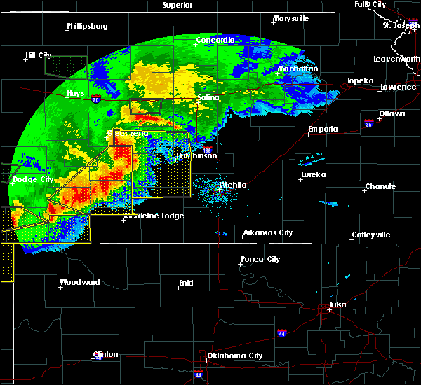 Radar Image for Severe Thunderstorms near Kingman, KS at 6/21/2020 6:56 PM CDT