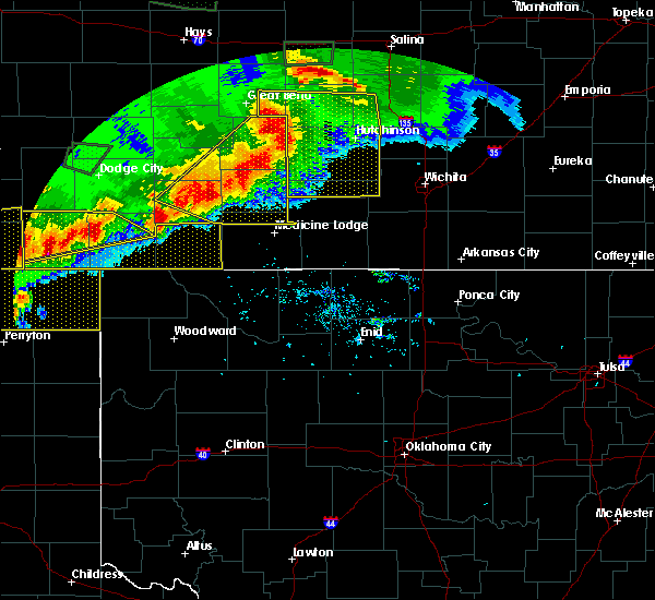 Radar Image for Severe Thunderstorms near Protection, KS at 6/21/2020 6:59 PM CDT