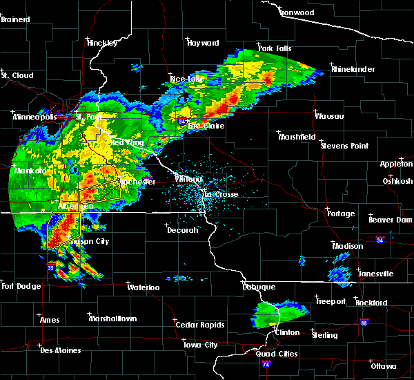 Radar Image for Severe Thunderstorms near Brownsdale, MN at 6/21/2020 7:01 PM CDT