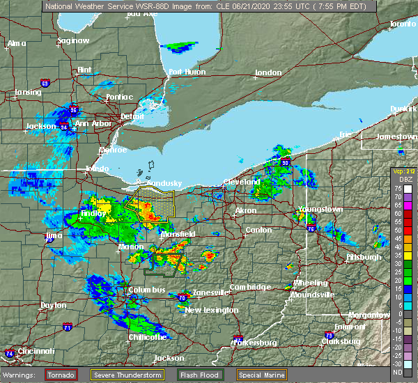 Radar Image for Severe Thunderstorms near Monroeville, OH at 6/21/2020 8:03 PM EDT