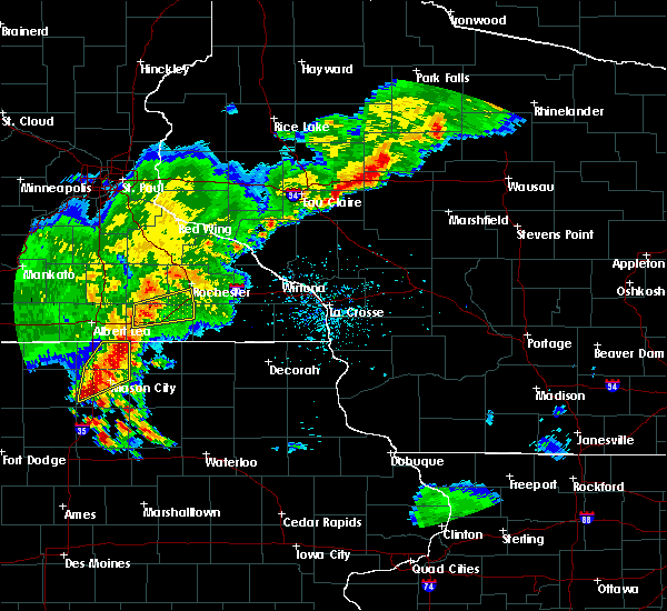Radar Image for Severe Thunderstorms near Otranto, IA at 6/21/2020 7:08 PM CDT