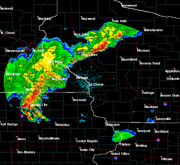 Radar Image for Severe Thunderstorms near Brownsdale, MN at 6/21/2020 7:14 PM CDT