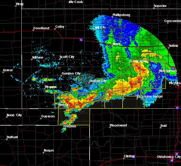 Radar Image for Severe Thunderstorms near Buffalo, OK at 6/21/2020 7:23 PM CDT