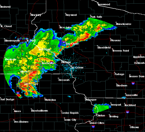 Radar Image for Severe Thunderstorms near Otranto, IA at 6/21/2020 7:27 PM CDT