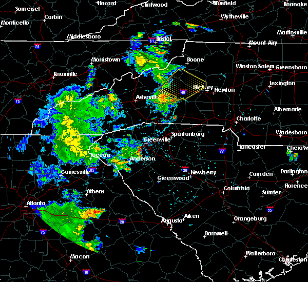 Radar Image for Severe Thunderstorms near Lenoir, NC at 6/21/2020 8:28 PM EDT