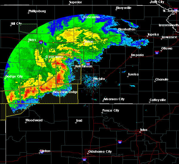 Radar Image for Severe Thunderstorms near Kingman, KS at 6/21/2020 7:28 PM CDT