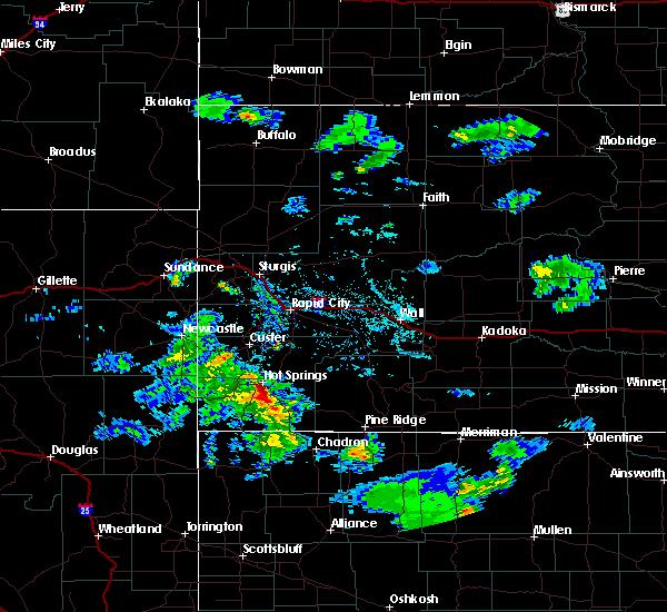 Radar Image for Severe Thunderstorms near Buffalo Gap, SD at 6/21/2020 6:30 PM MDT