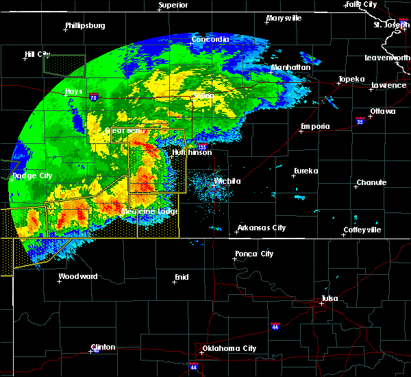 Radar Image for Severe Thunderstorms near Kingman, KS at 6/21/2020 7:43 PM CDT