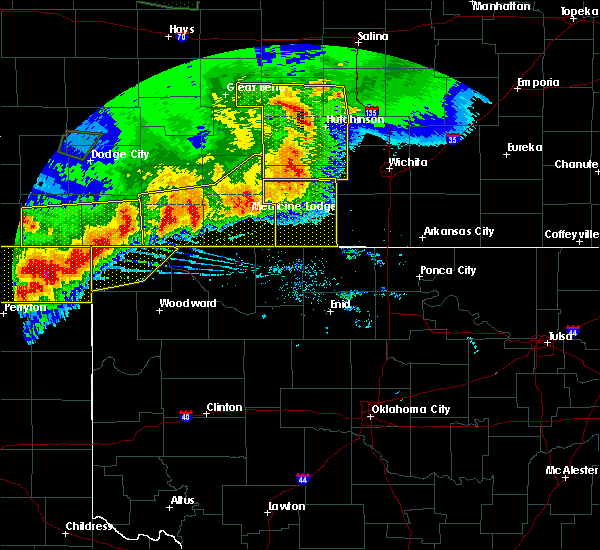 Radar Image for Severe Thunderstorms near Protection, KS at 6/21/2020 7:48 PM CDT