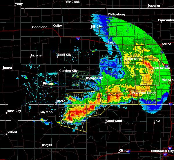 Radar Image for Severe Thunderstorms near Buffalo, OK at 6/21/2020 7:56 PM CDT