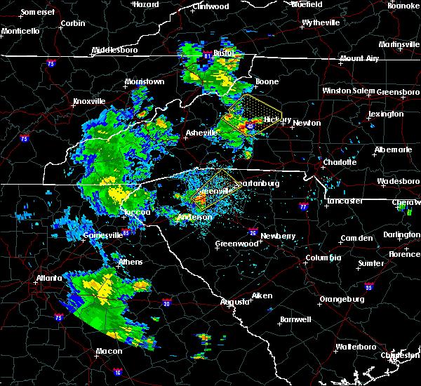 Radar Image for Severe Thunderstorms near Lenoir, NC at 6/21/2020 8:58 PM EDT