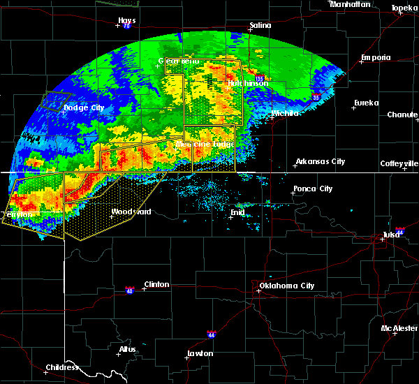 Radar Image for Severe Thunderstorms near Medford, OK at 6/21/2020 8:09 PM CDT